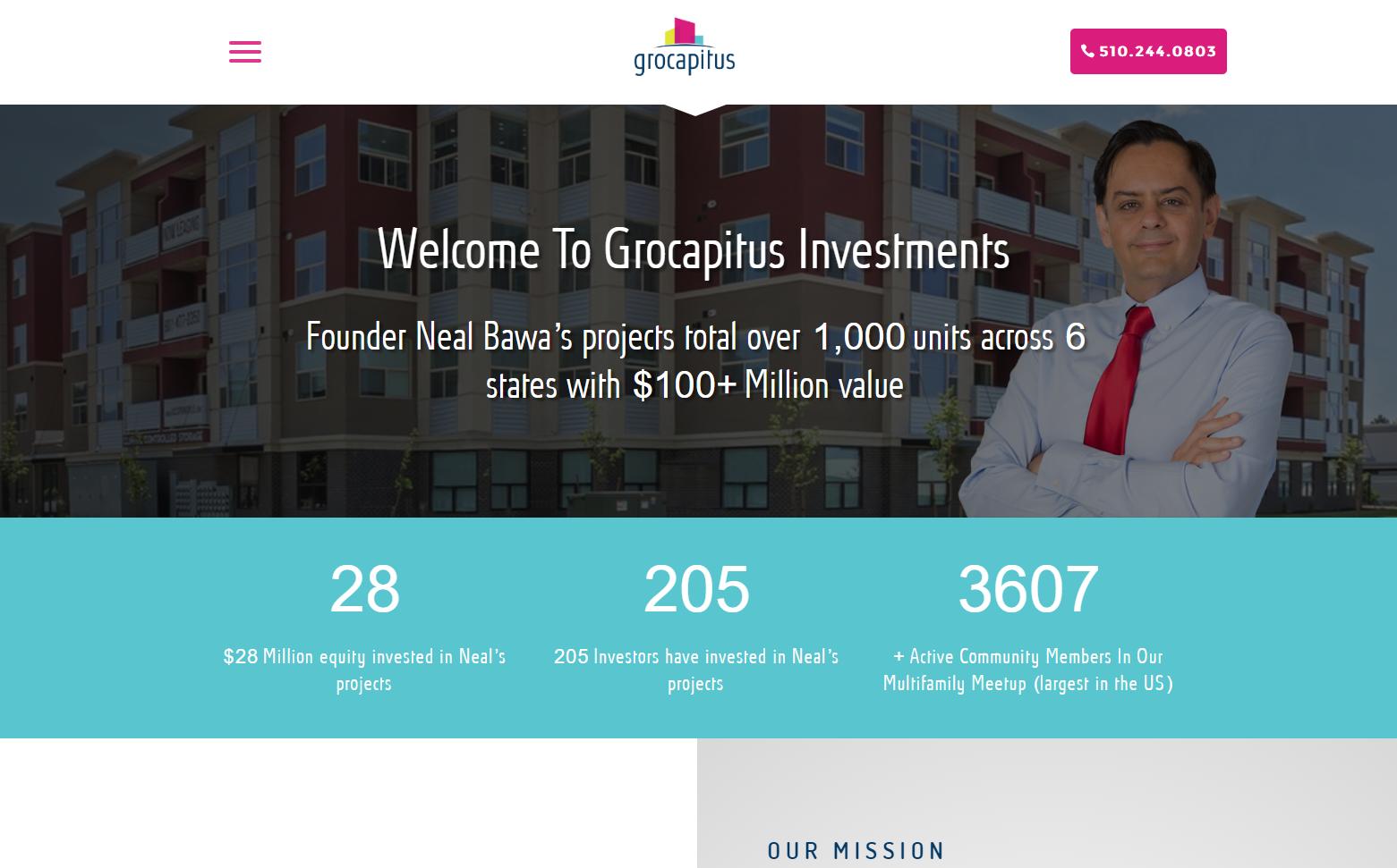 Grocapitus - Corporate Branding & Website