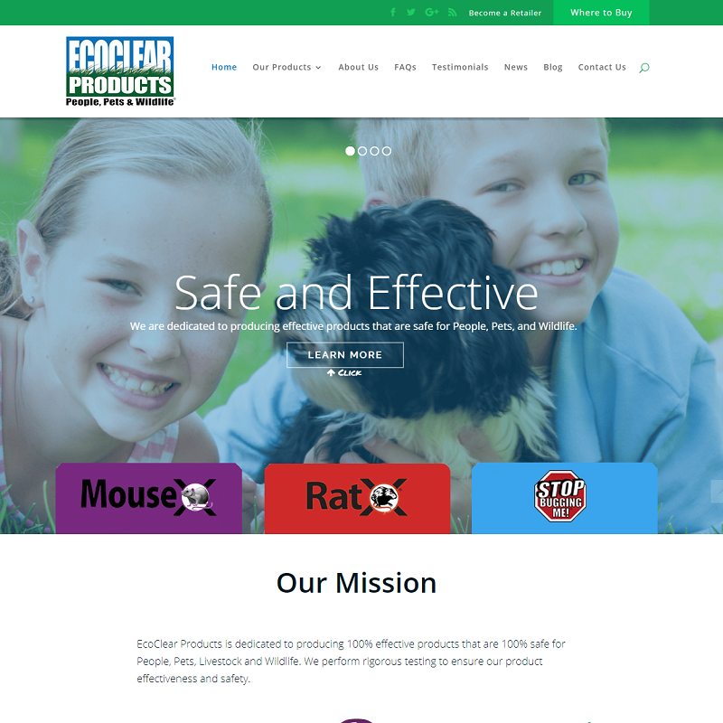 EcoClear Products - Website Design