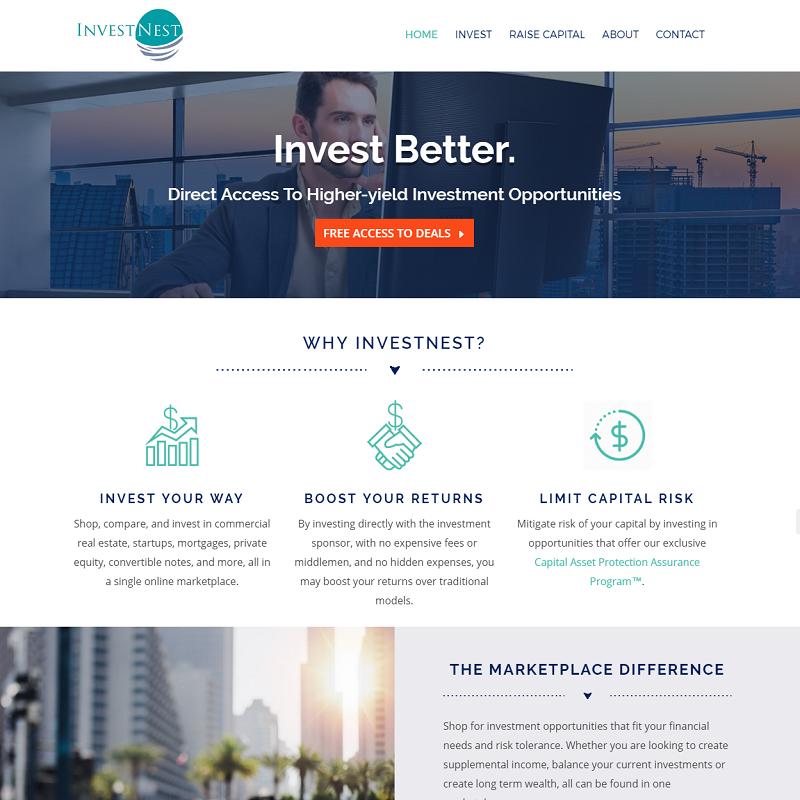InvestNest - Corporate Branding & Website