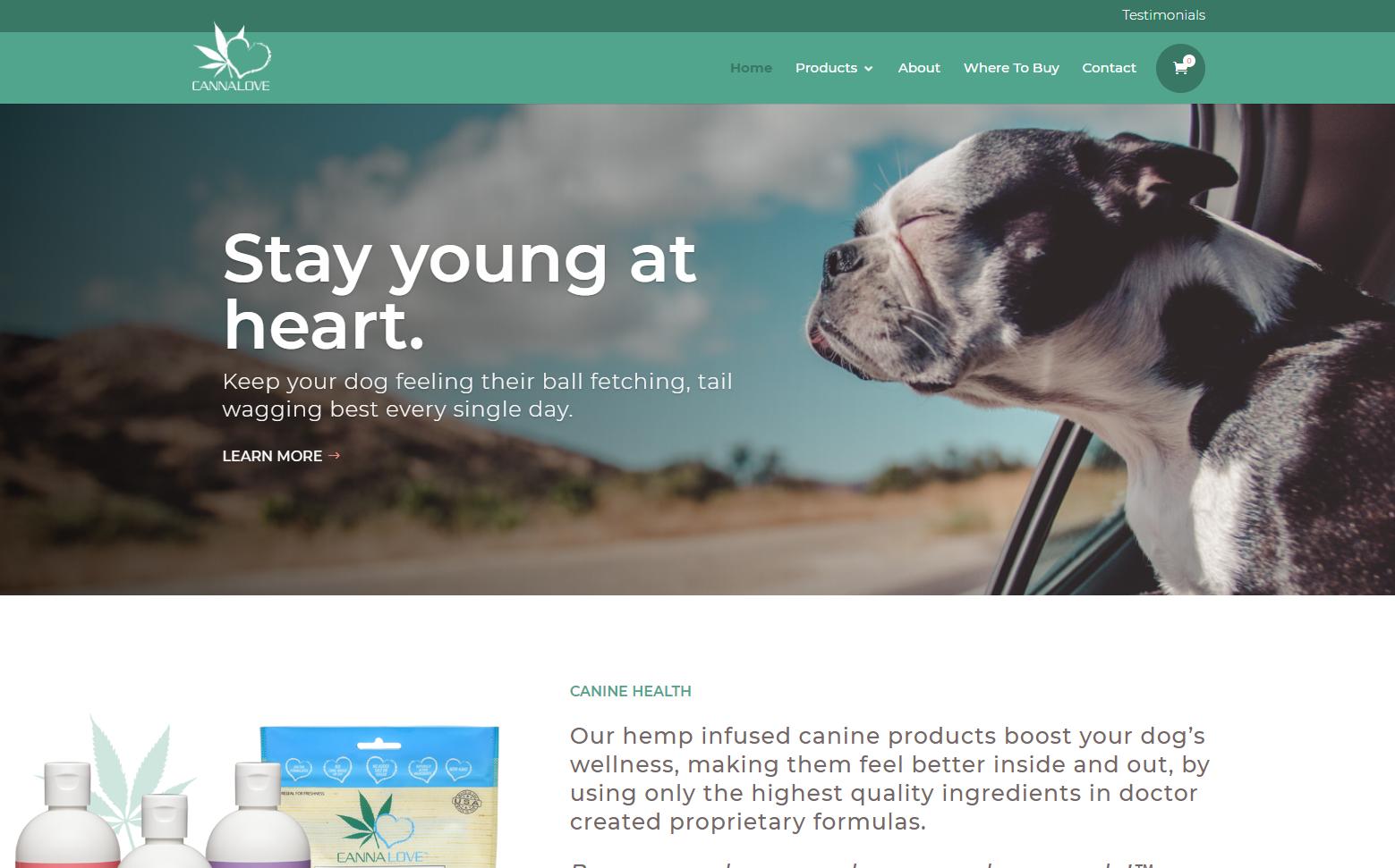 CannaLove - Website Design & Development