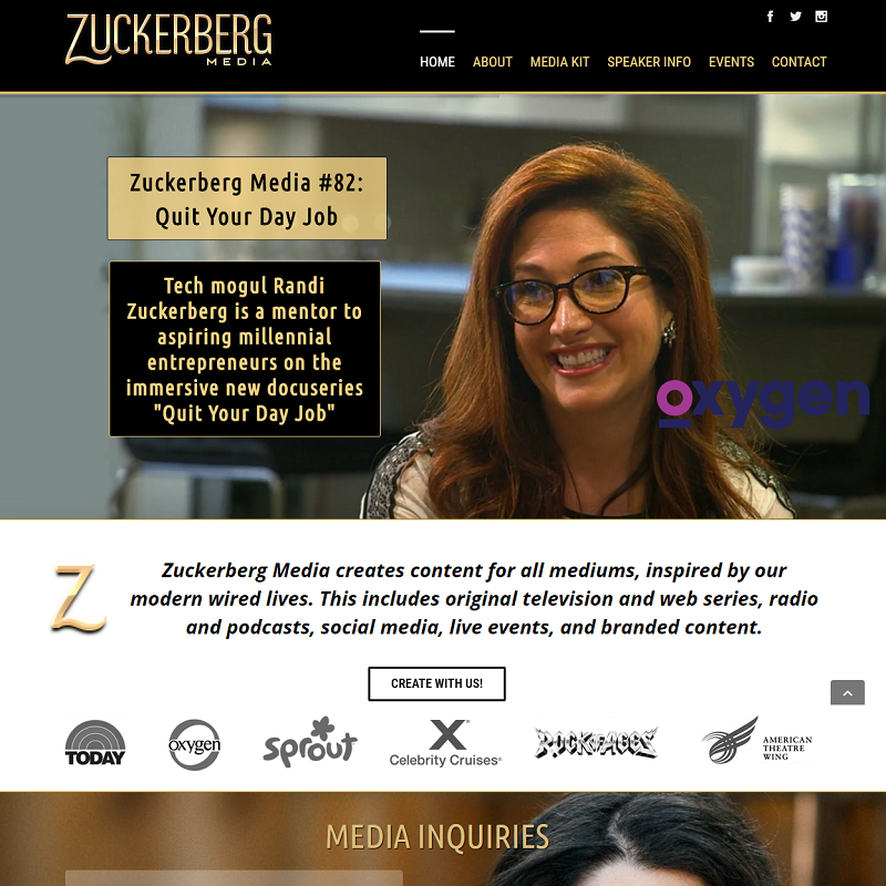 Zuckerberg Media - Website Redesign